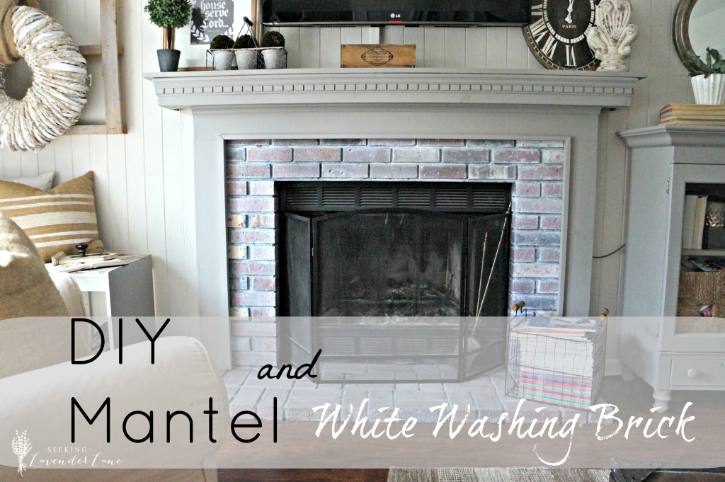 The fireplace reveal seeking lavendar lane for Diy brick projects