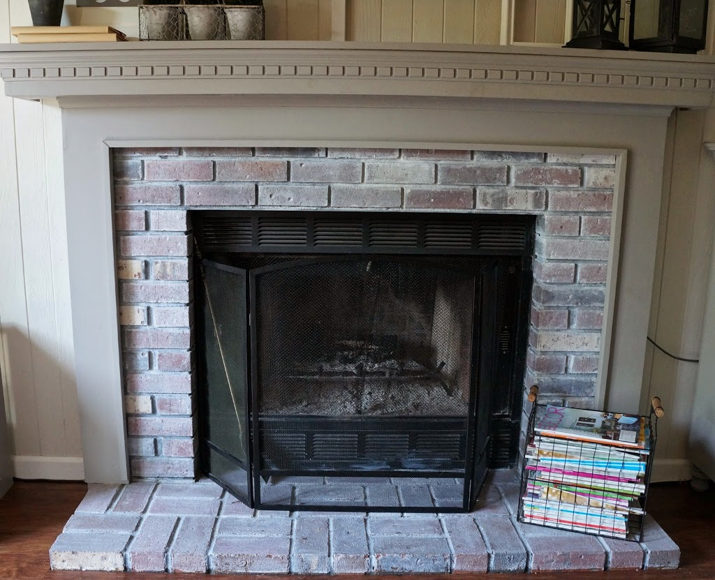 New Year New Room Challenge Re Whitewashing The Brick Fireplace Seeking Lavendar Lane