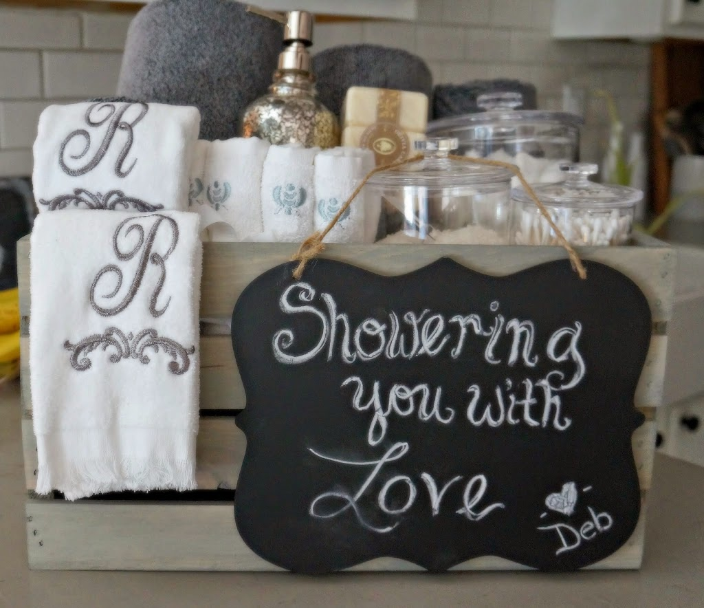 bathroom grey washed wood crate bridal shower gift seeking lavendar lane On bathroom gifts
