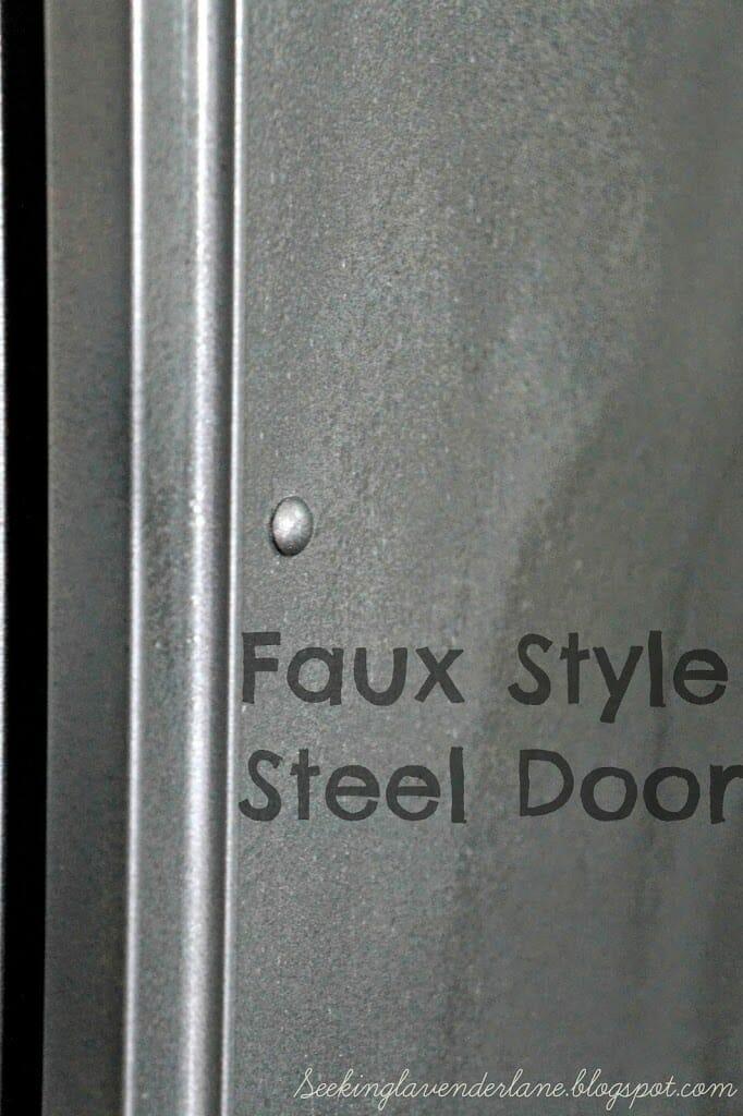 Faux Steel Closet Door Makeover