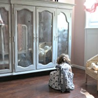 Restoring a Hutch to a Little Girl Armoire