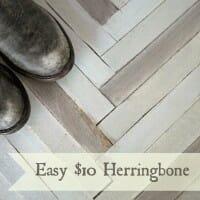 Herringbone DIY for $10