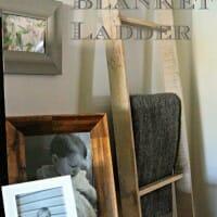 DIY Blanket Ladder from a Pallet
