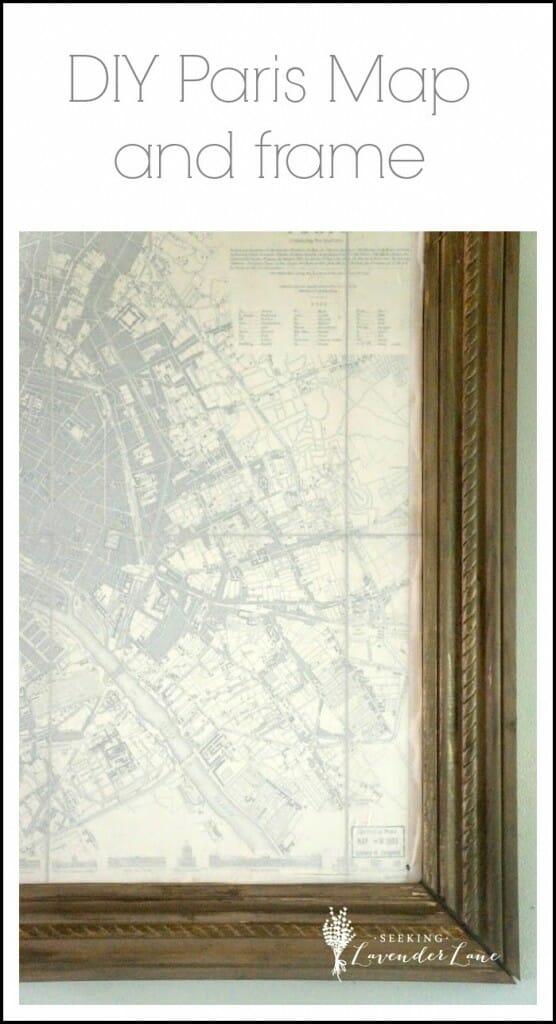 DIY Paris Map and frame