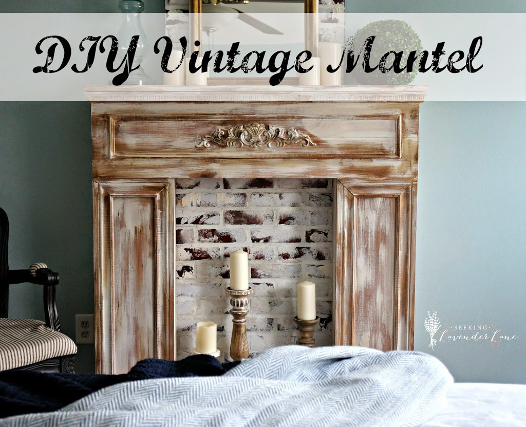 Creating a faux fintage mantel