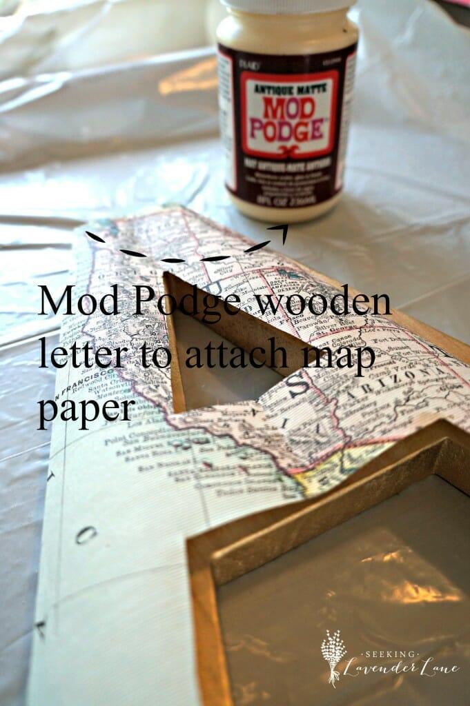 Mod Podge Wooden Letter