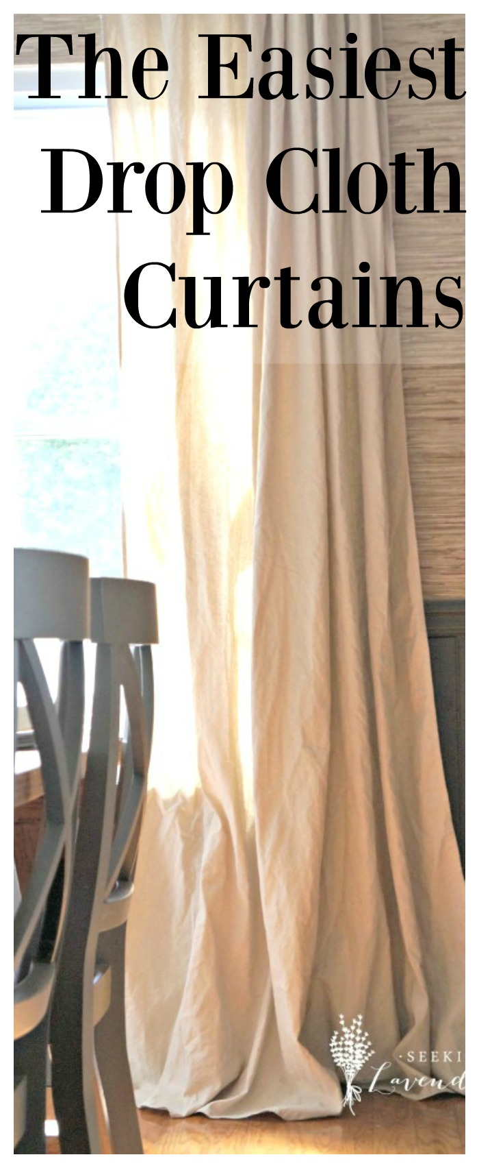 How To Make Homemade Curtains. Repupose old doors into finials to make ...