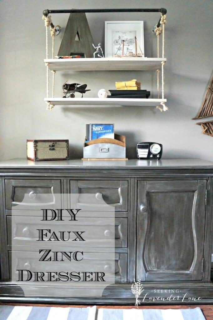 DIY Faux Zinc Dresser Lab