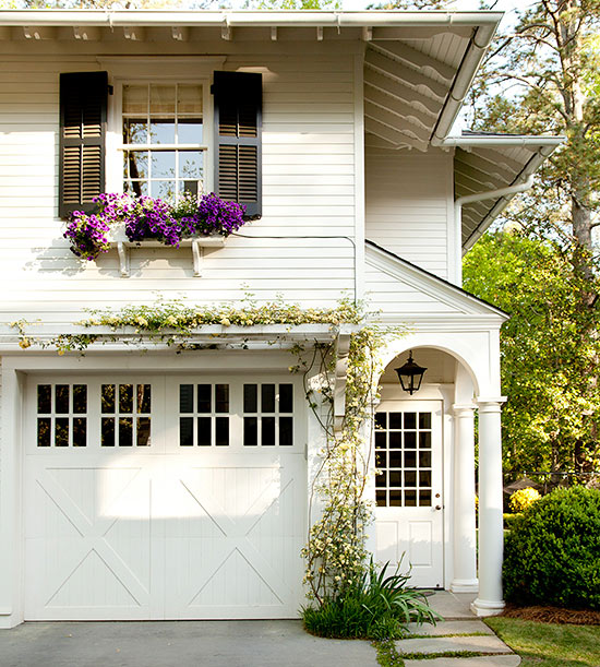 Adding curb appeal with character seeking lavendar lane for Garage door curb appeal