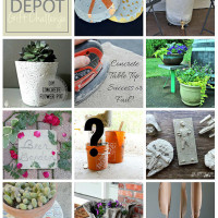 Home Depot Gift Challenge Concrete Planter
