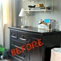 DIY Faux Zinc Dresser