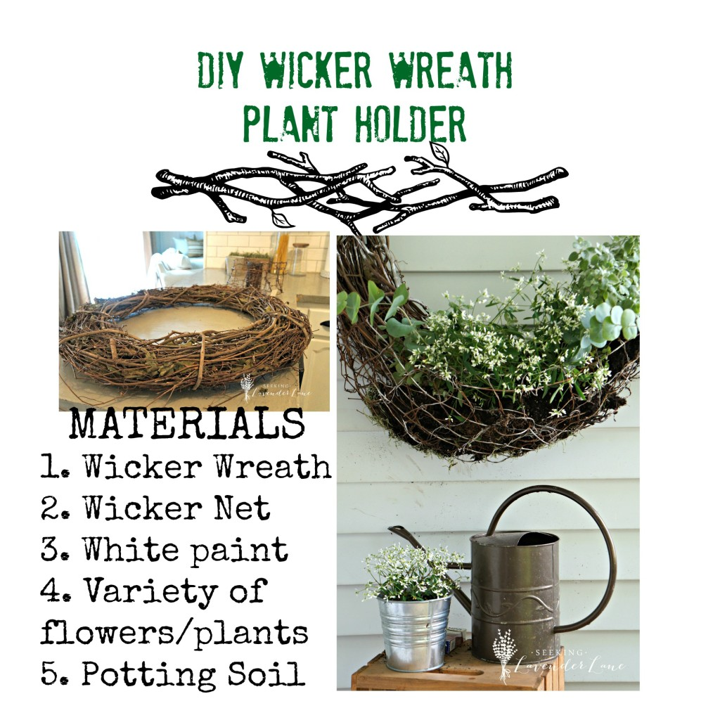 DIY Wicker Wreath Materials