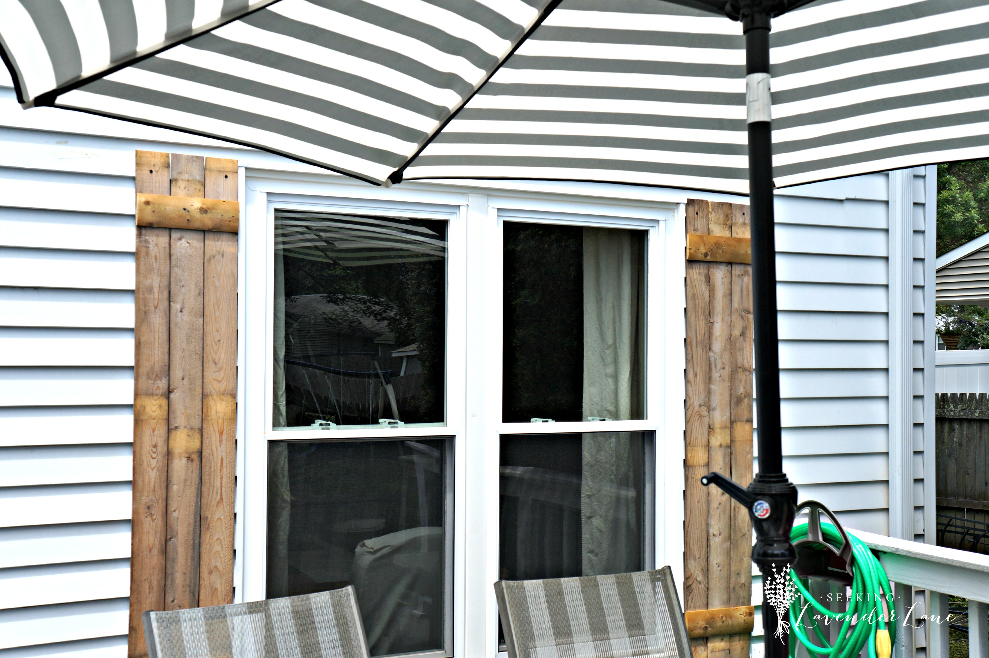 diy wooden shutters from fence wood