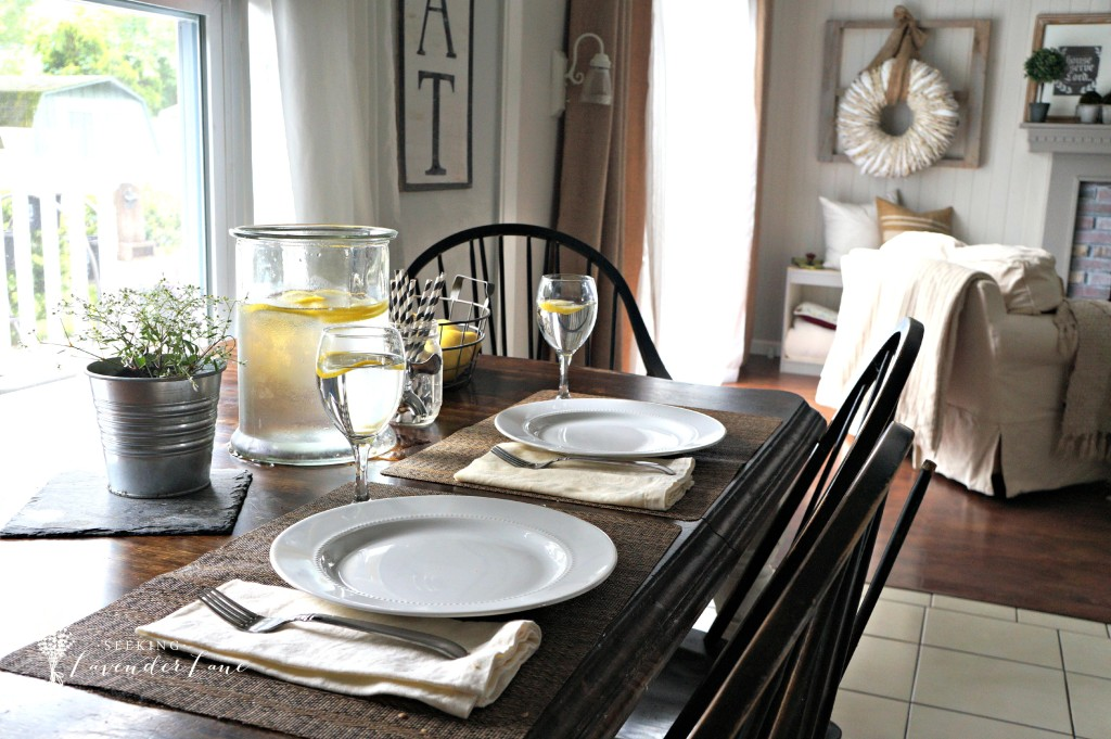 Kitchen Table Setting For Summer
