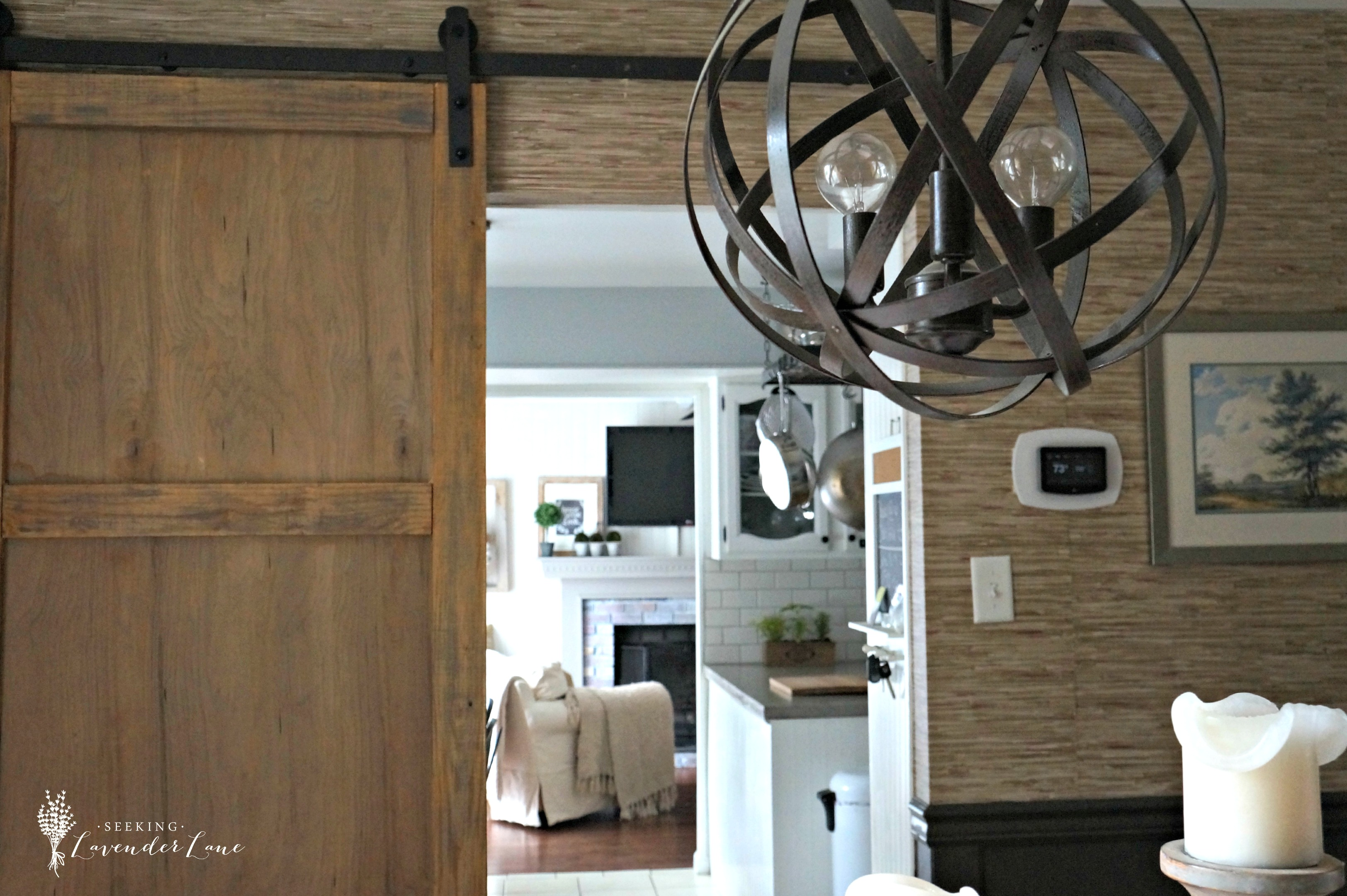 Early summer home tour for Barn door dining room