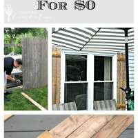 DIY Wood Shutters for $0