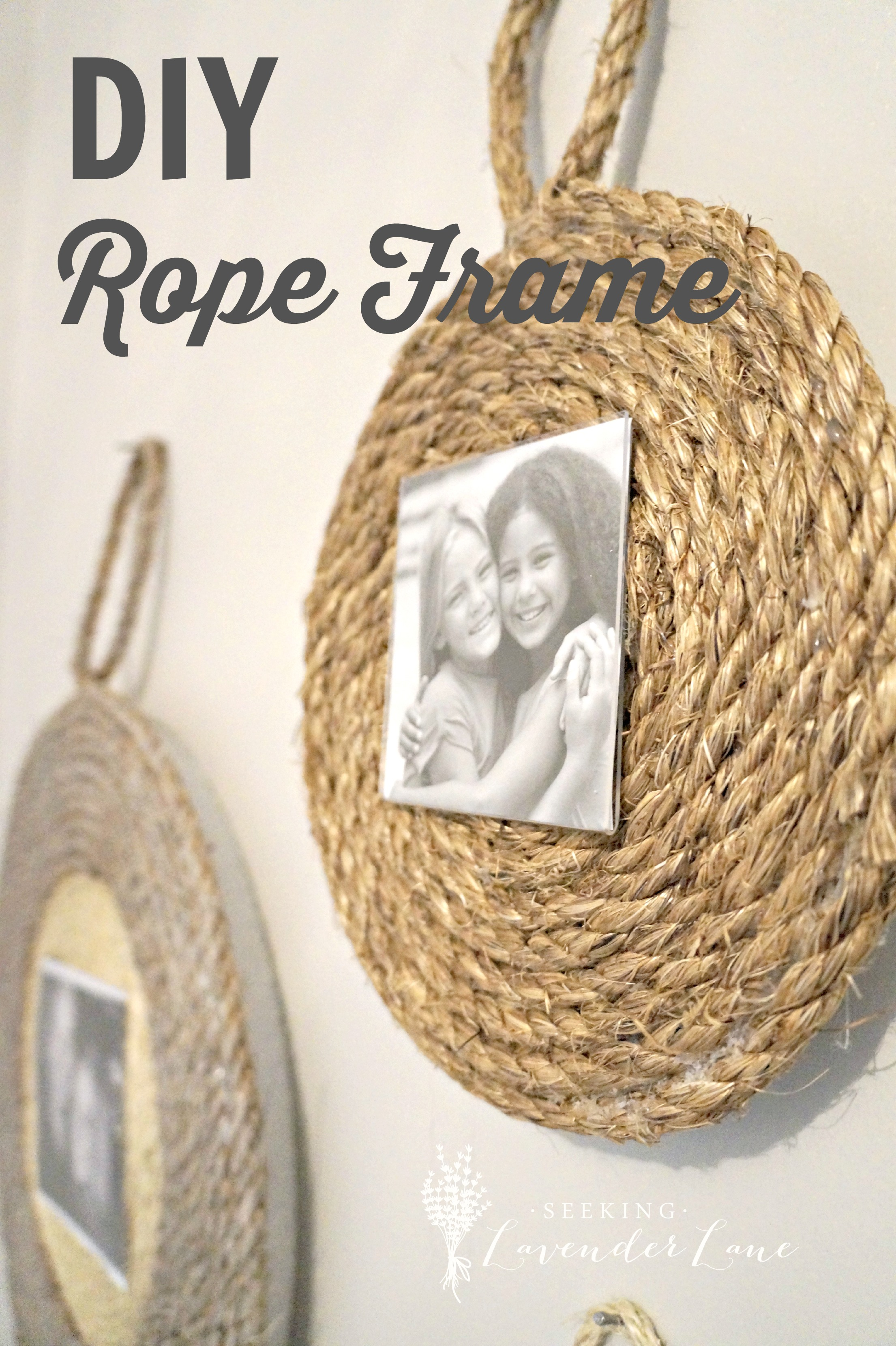 diy rope frame with labeljpg