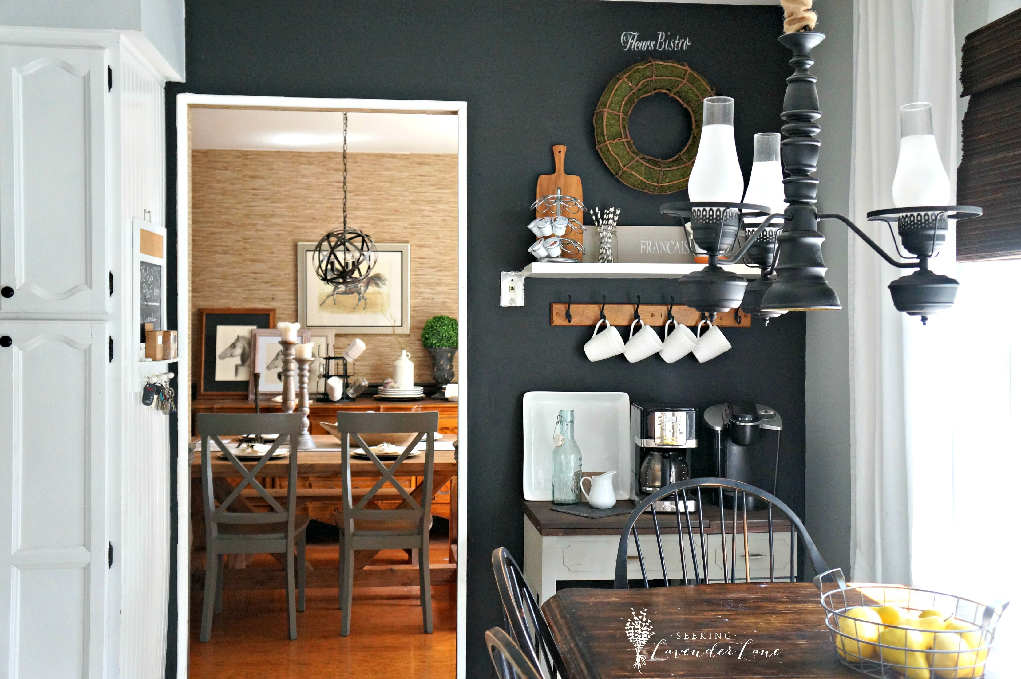 adding drama with a chalkboard wall