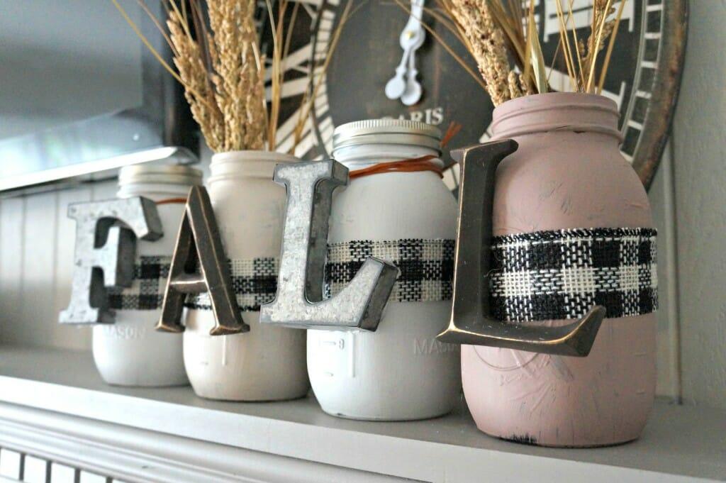 F-A-L-L Mason jars