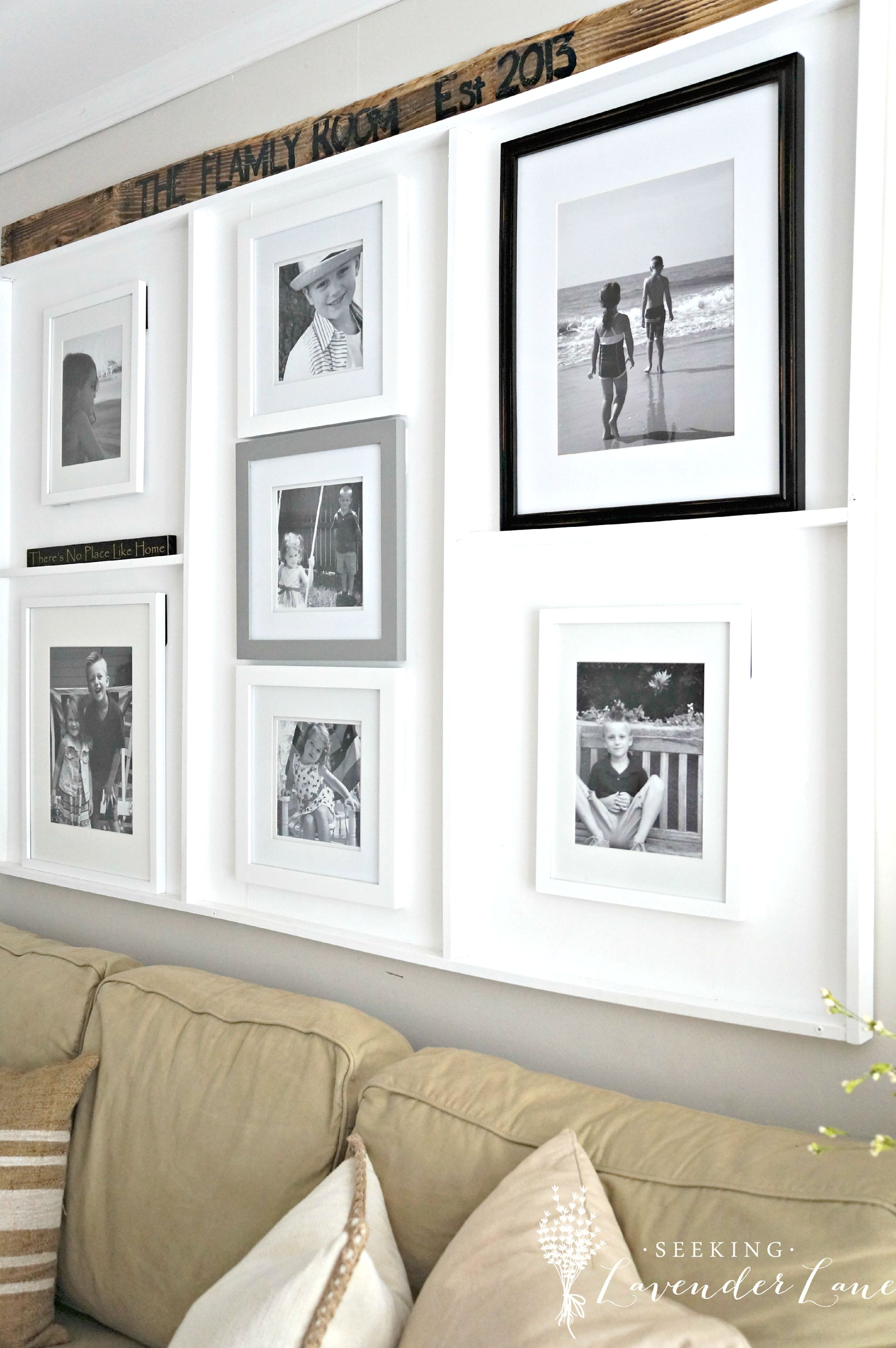 Gallery Wall Built In 2