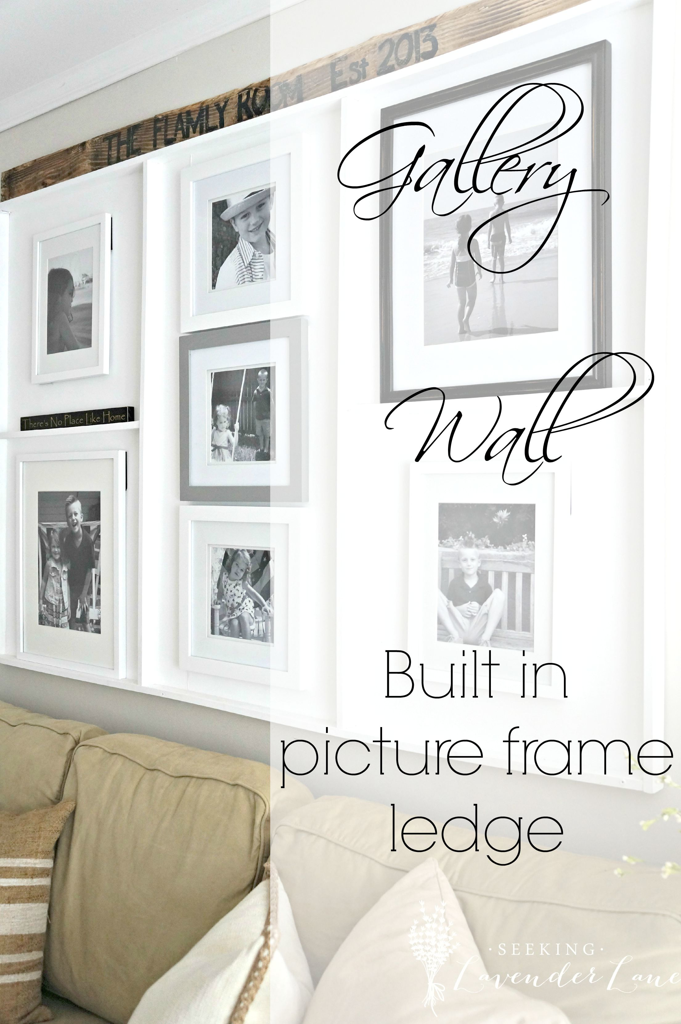 Gallery-Wall-Built-in-Picture-Frame-Ledge Rustic Garden Farmhouse Shelf Plant Stand on lantliv plant stand, garden shelf cabinet, privilege multi tiered plant stand, 3 tier plant stand, garden shelf table, wine rack plant stand,