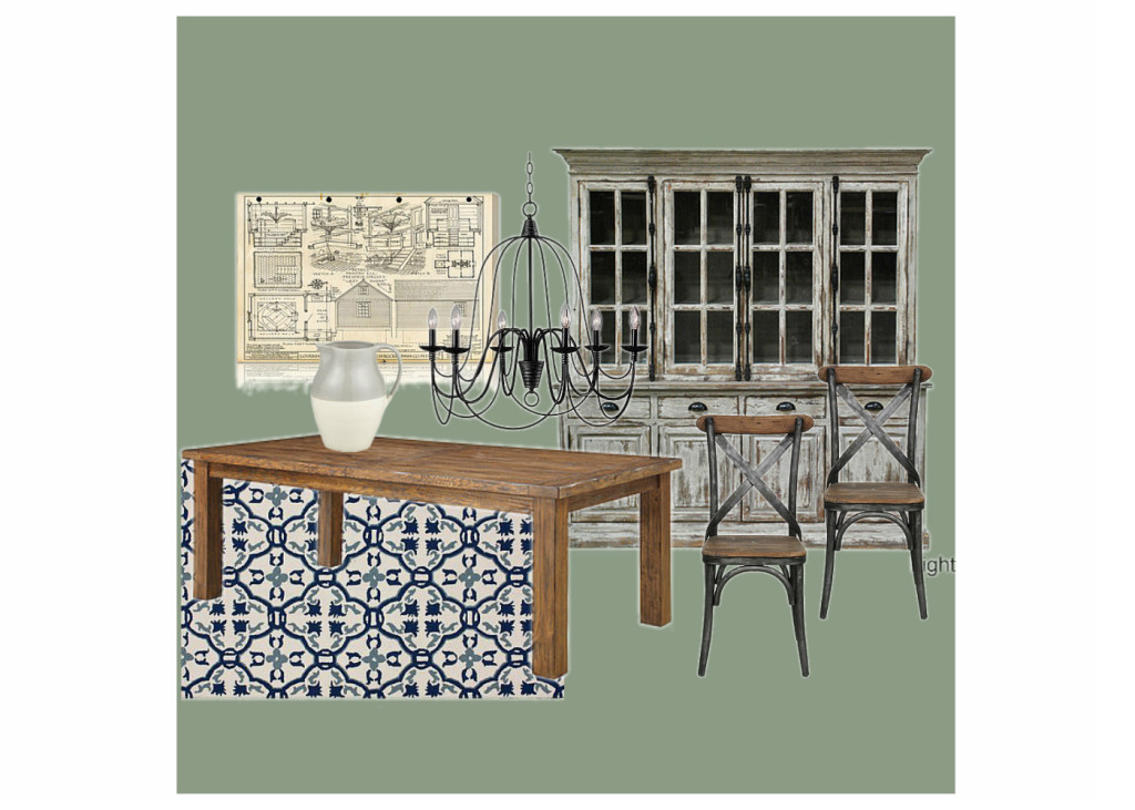 OB-Green Rustic Dining Room