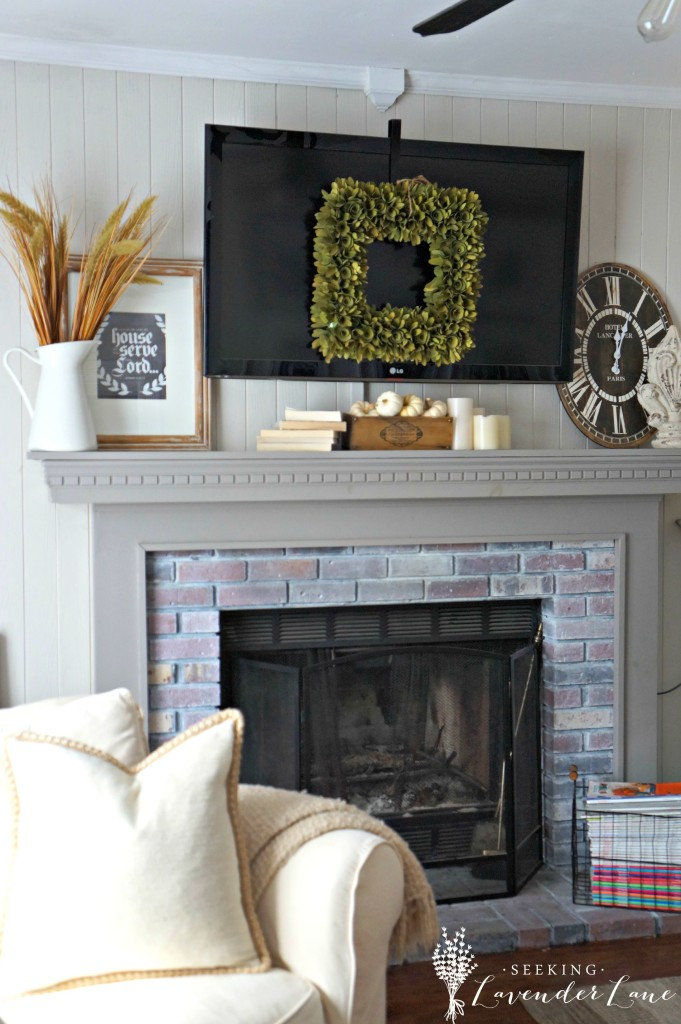 Cottage Fireplace Fall Touches