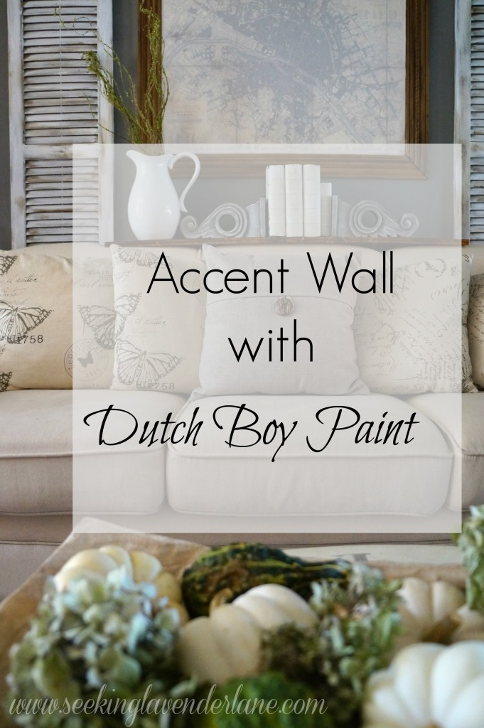 Accent Wall with Dutch Boy Paint