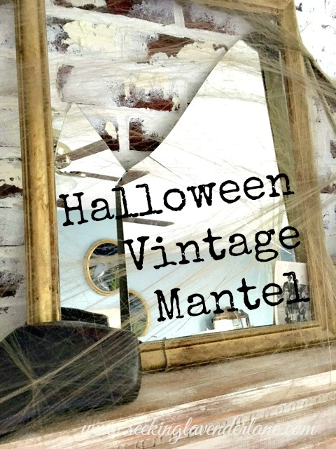 Broken Mirror Halloween Decor Vintage Decor