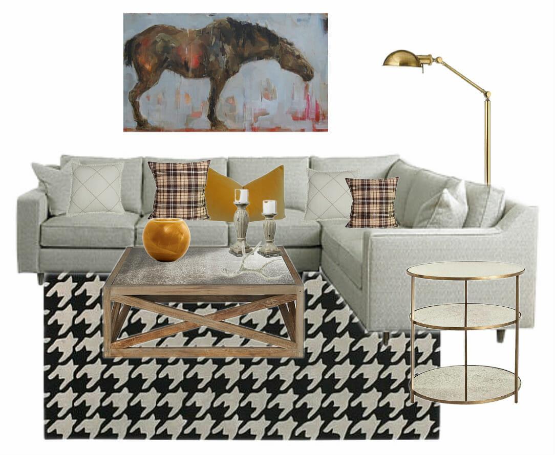 Thanksgiving Living Room Design Board