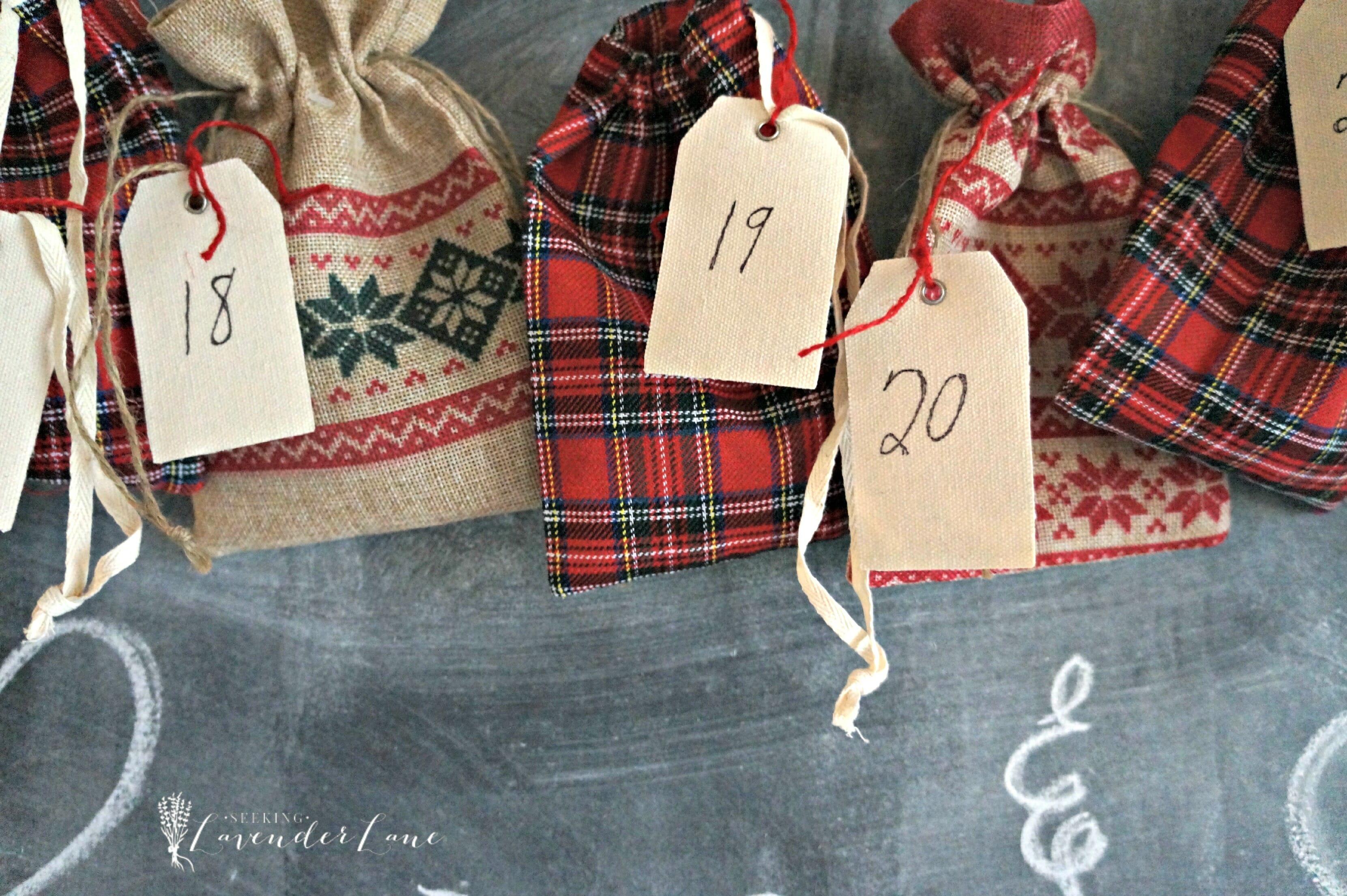 Advent Calendar burlap bags