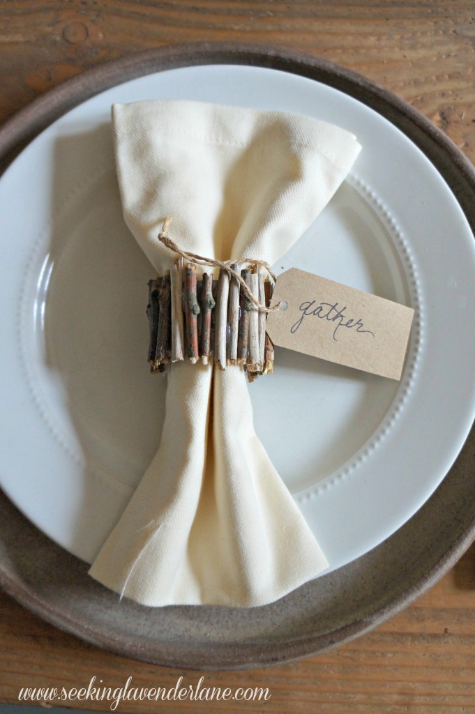 DIY $0 Rustic Napkin Ring