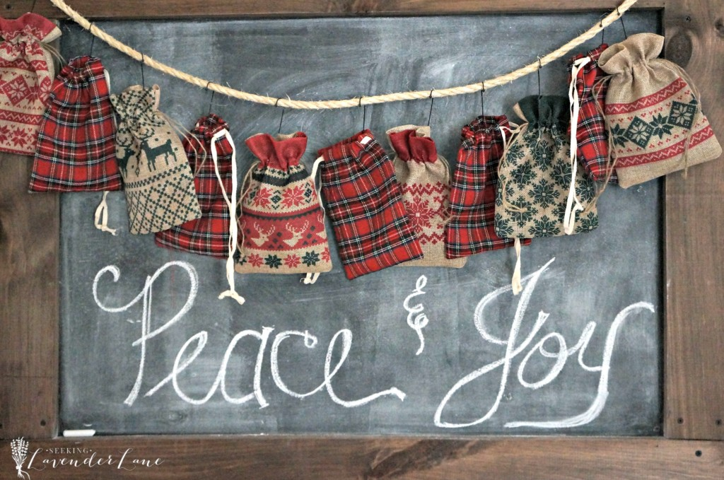 DIY Advent Calendar Burlap Bags
