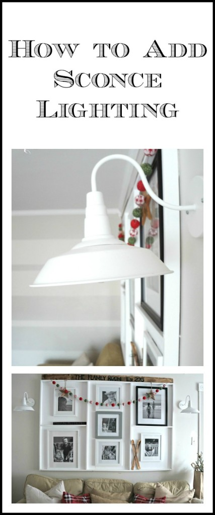How to add sconce lighting collage