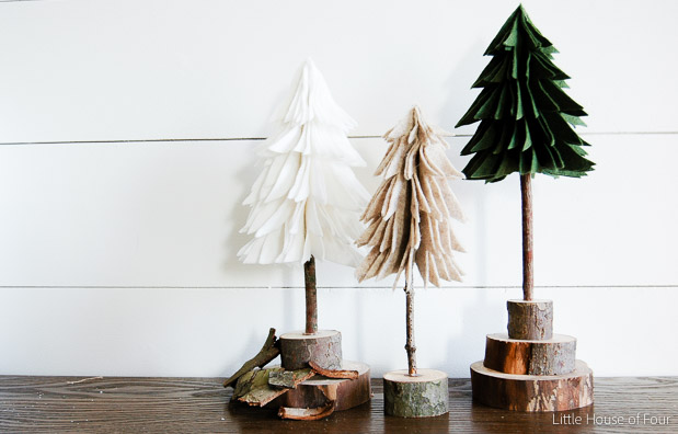 Rustic Felt Christmas Trees-0946
