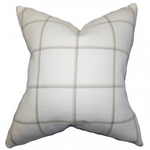 neutral plaid pillow amazon