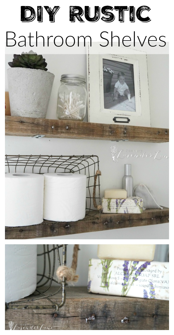 Diy rustic bathroom shelves seeking lavendar lane for Bathroom designs diy