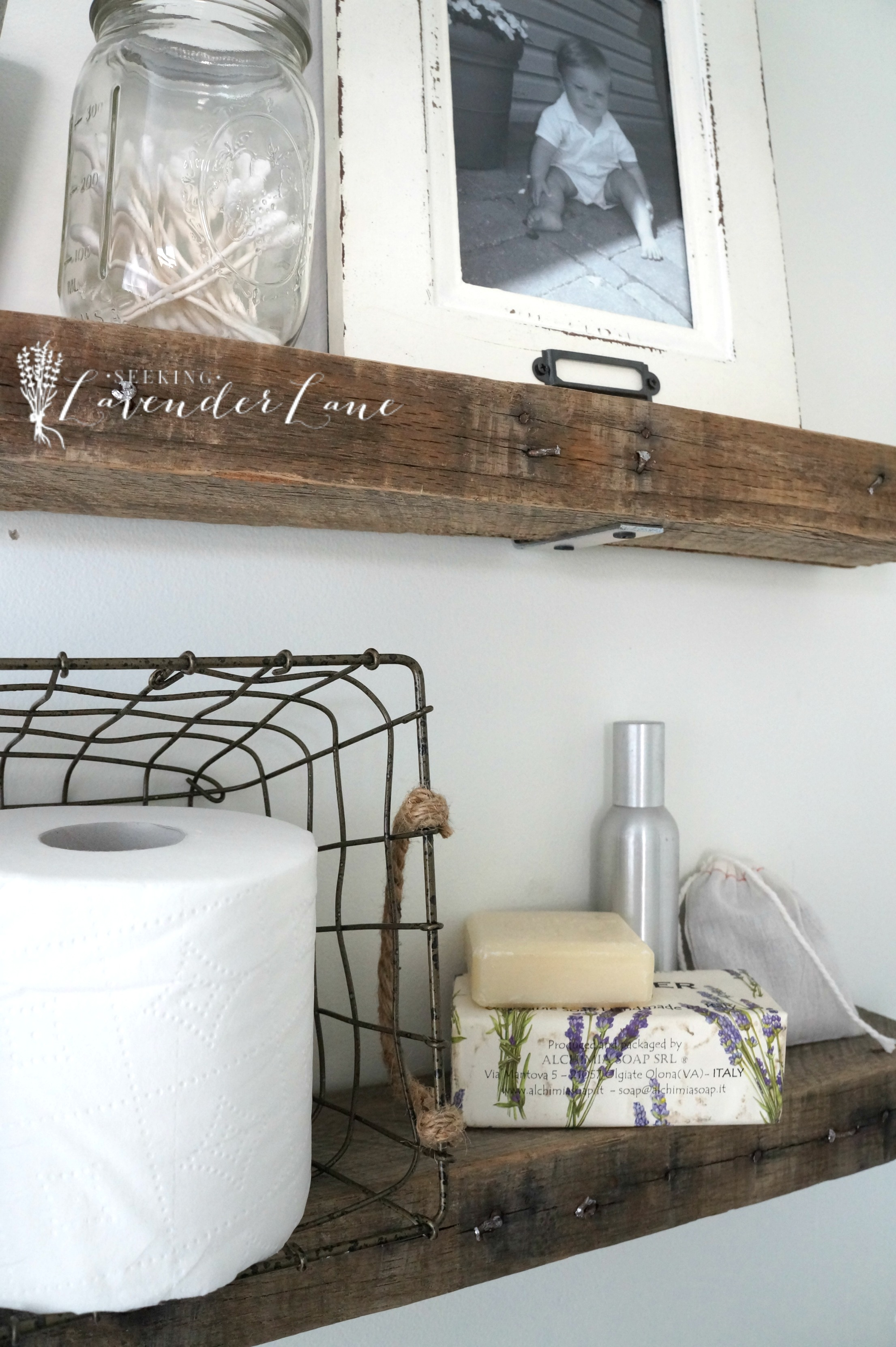 Pallet Floating Shelves 1