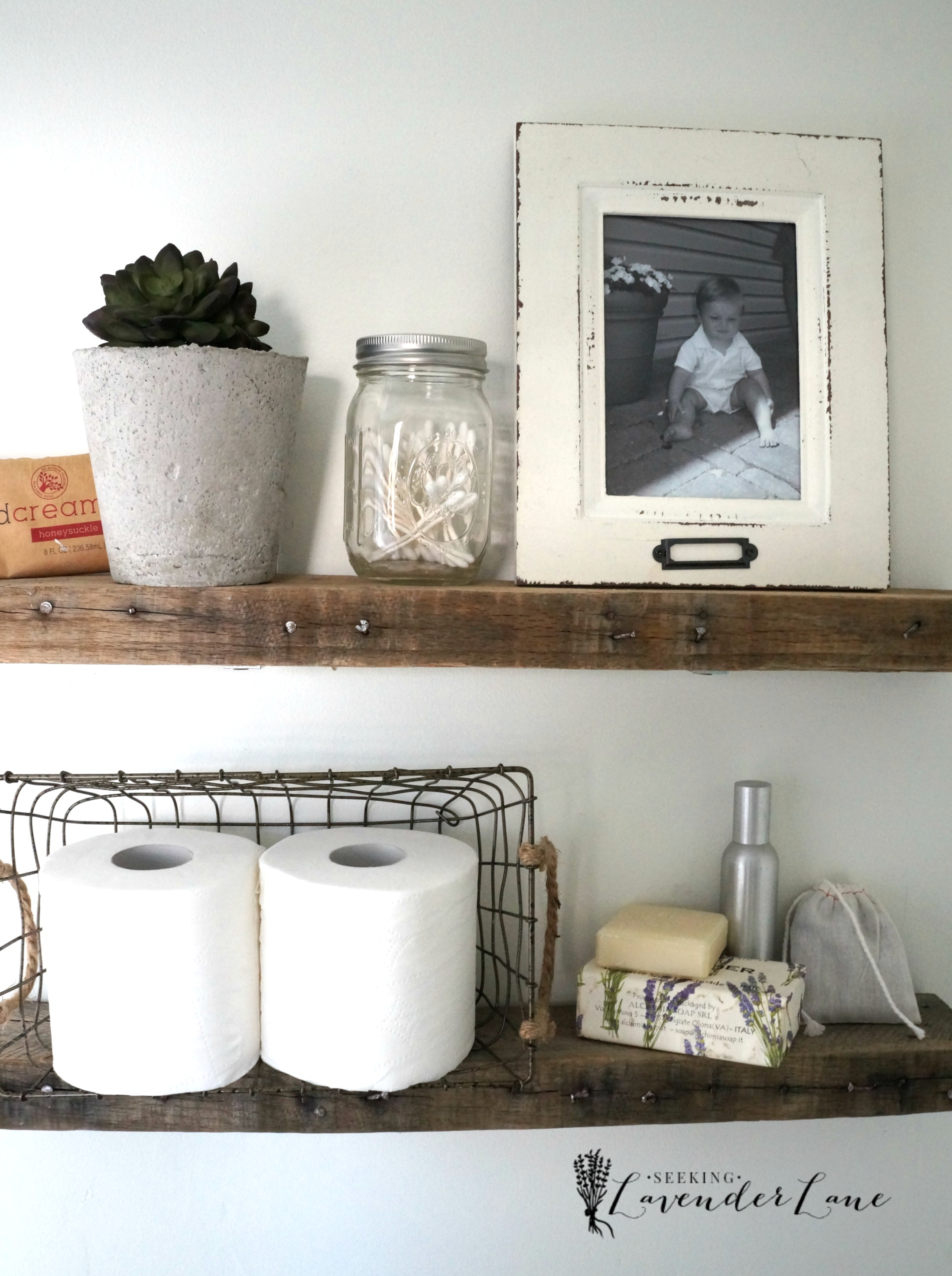 40 Best photograph of Rustic Bathroom Shelves