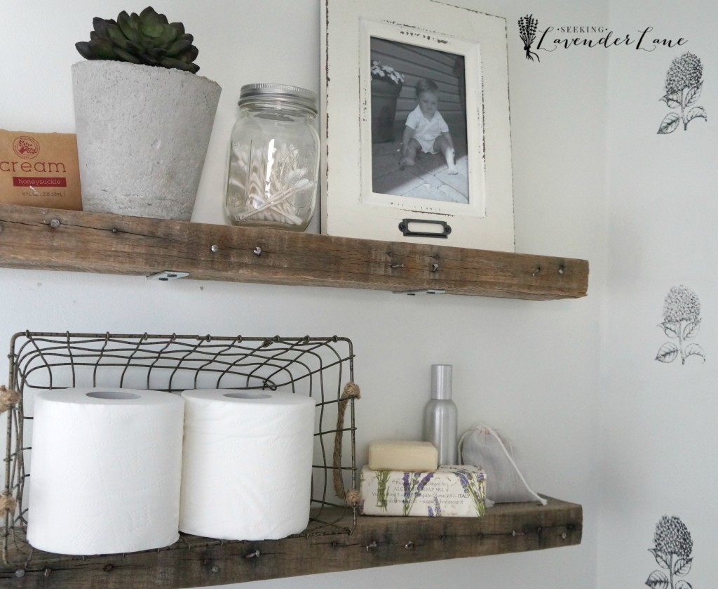 Pallet Wood Floating Shelves 7