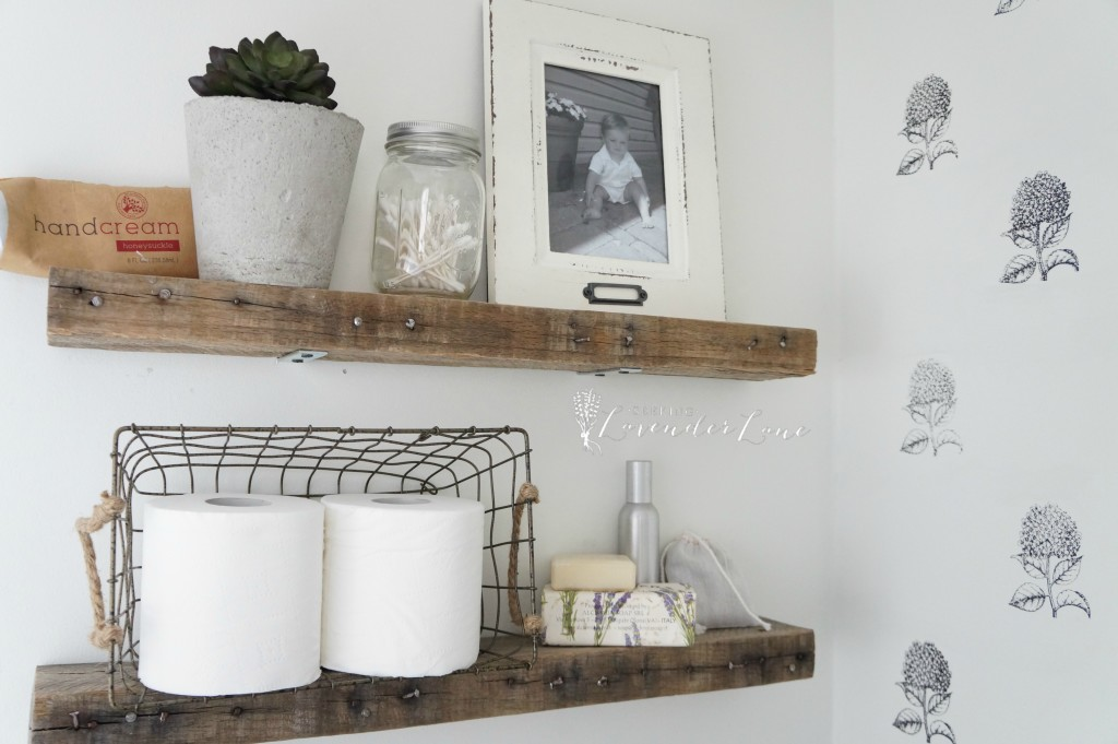 Pallet wood floating Shelves 8