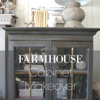 Farmhouse Cabinet Makeover-New Year New Room Challenge