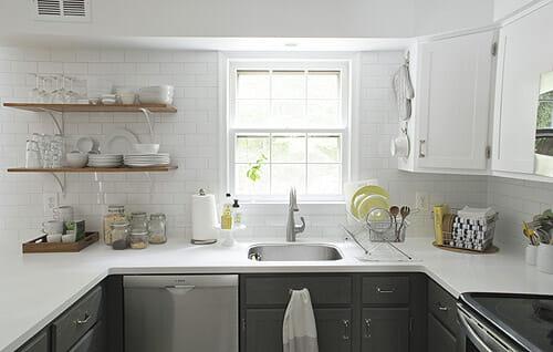Inspiring small kitchens seeking lavendar lane for Cocinas blancas modernas 2016