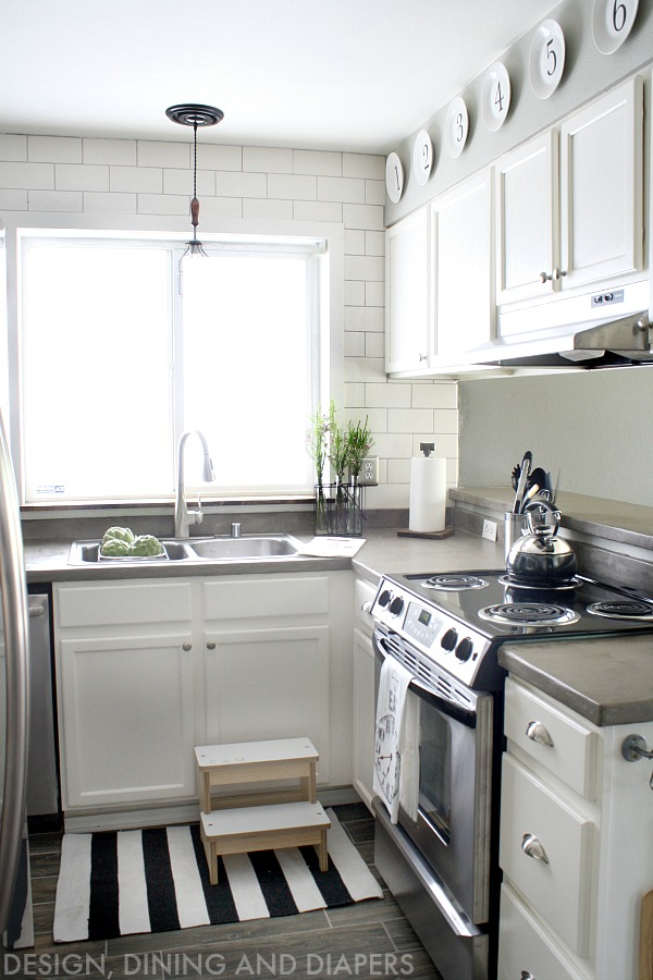 Inspiring small kitchens seeking lavendar lane for Concrete kitchen cabinets designs