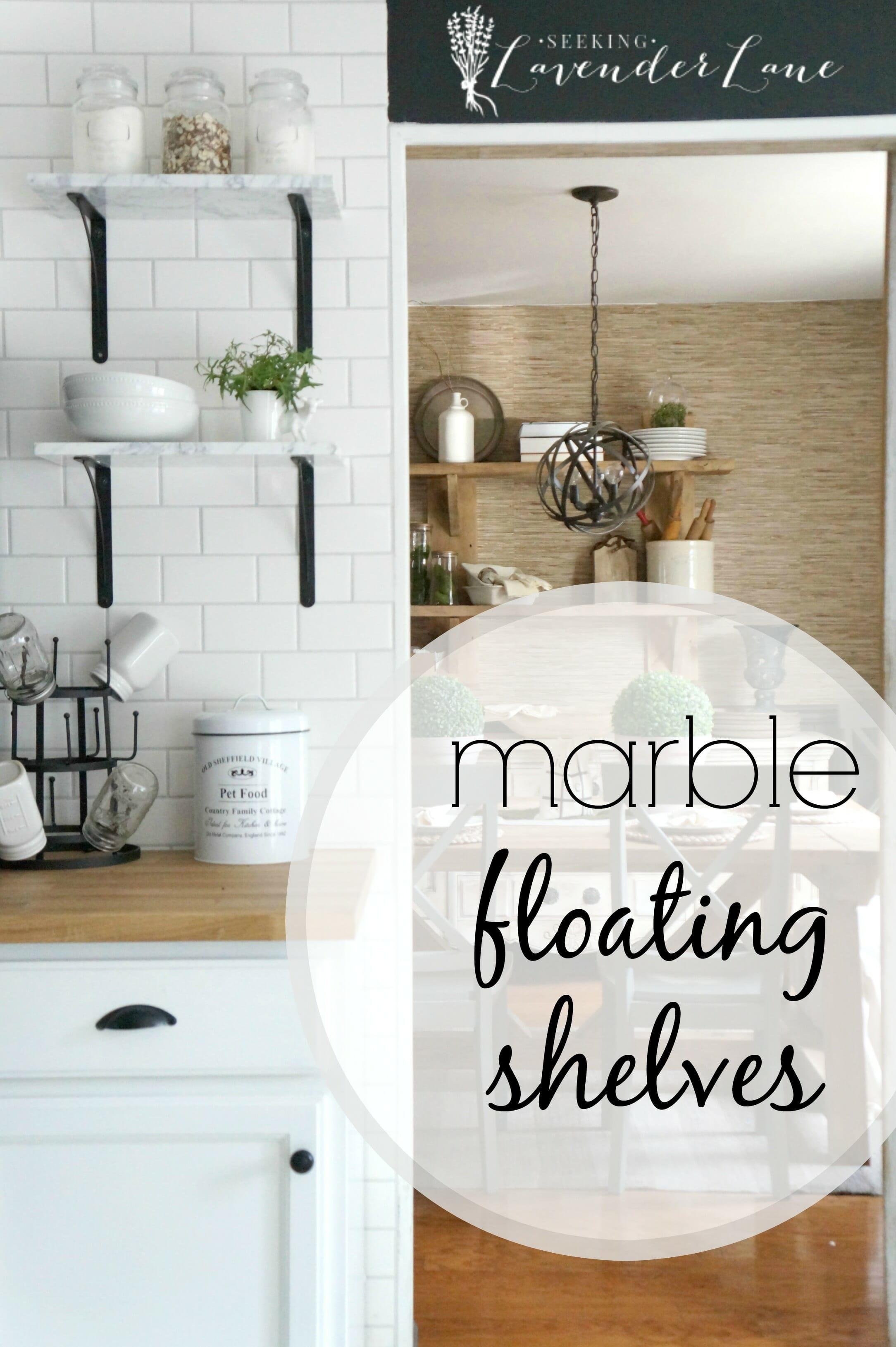 Week 3 Orc Marble Floating Shelves Seeking Lavendar Lane