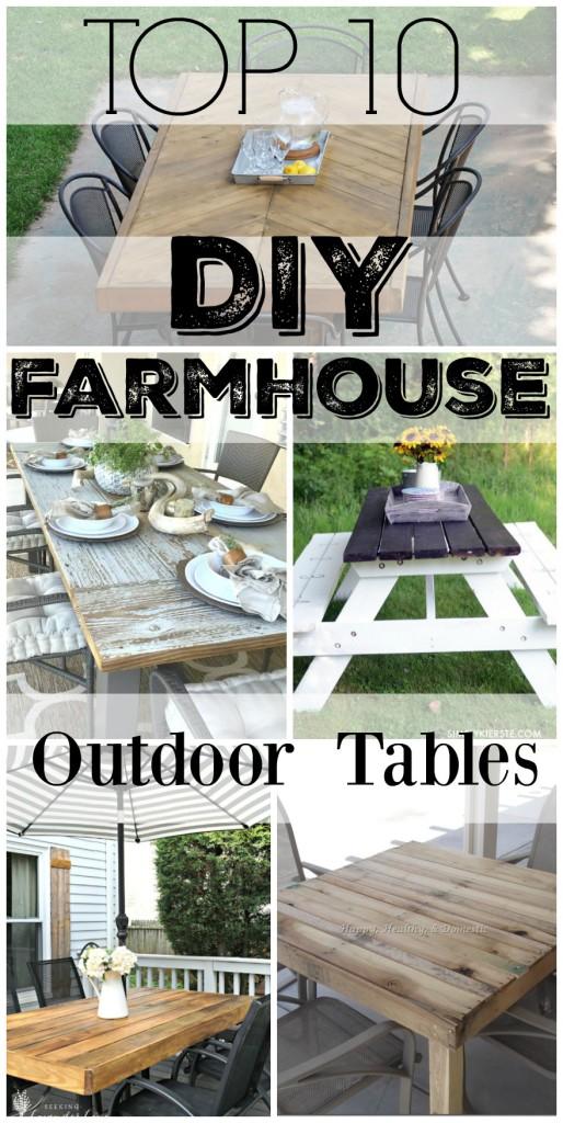 Top 10 diy farmhouse outdoor tables