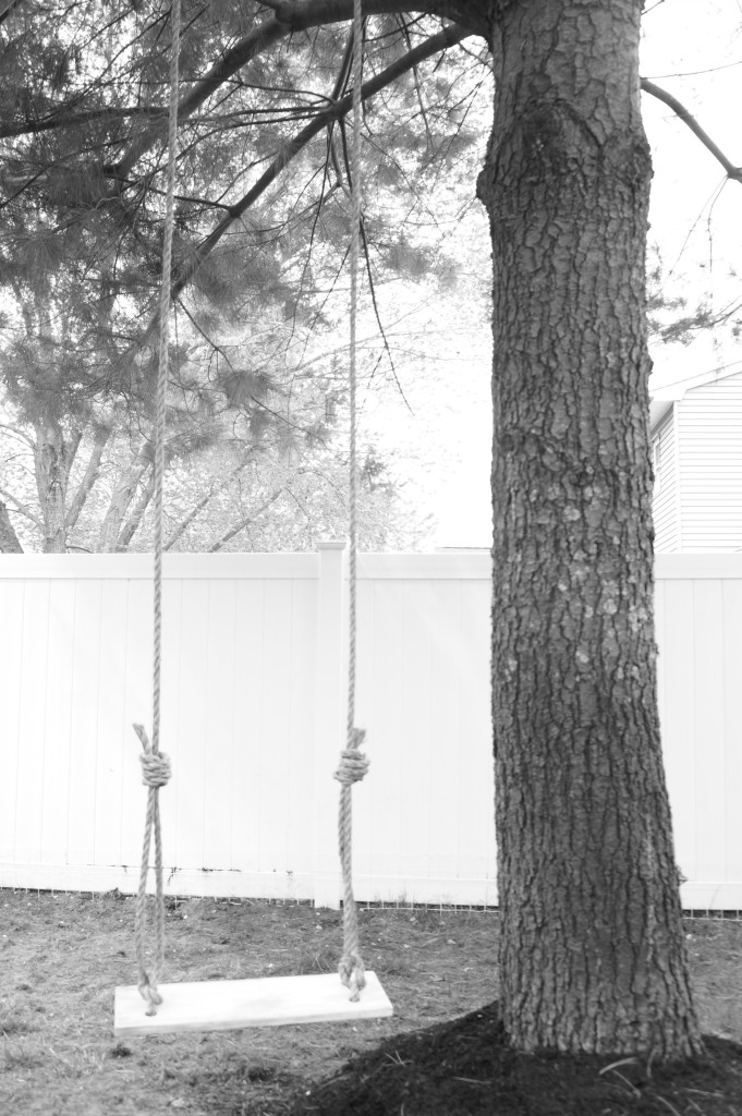 black and white swing