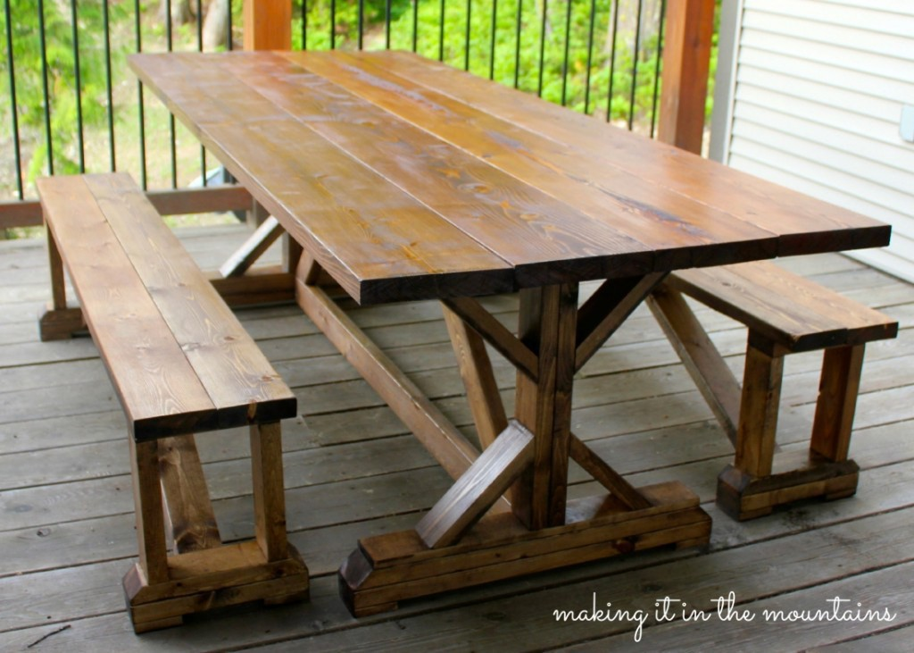 10 DIY Outdoor Farmhouse Tables Seeking Lavendar Lane