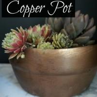 DIY Vintage Copper Pot