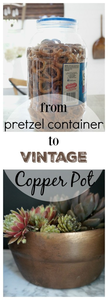 from pretzel container to Vintage Copper Pot